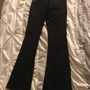 Black small bell bottom pants